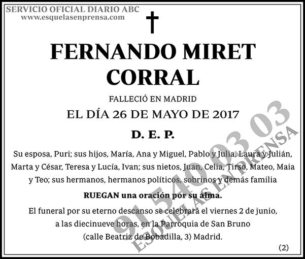 Fernando Miret Corral